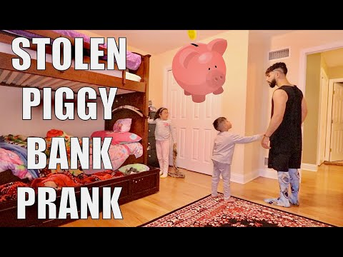 STOLEN PIGGY BANK PRANK!!