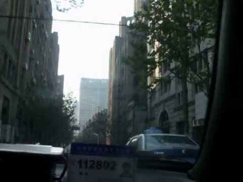 Visit Shanghai downtown in taxi