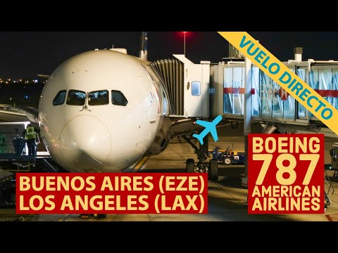 AA992 Buenos Aires Los ángeles - Boeing 787-9 American Airlines - Business