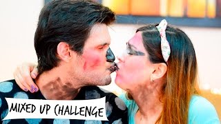 MIXED UP CHALLENGE | RETO DEL MAQUILLAJE | GRIS Y CHARLY