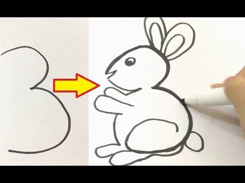 Cách vẽ chữ số thành hình các CON VẬT | Dạy bé học số từ 1 đến 9, vẽ chữ số cực đơn giản | Bao quát các kiến thức liên quan đến học vẽ cho bé đúng nhất
