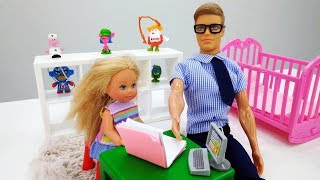Мультик про Барби: Штеффи учит уроки. Видео для девочек.