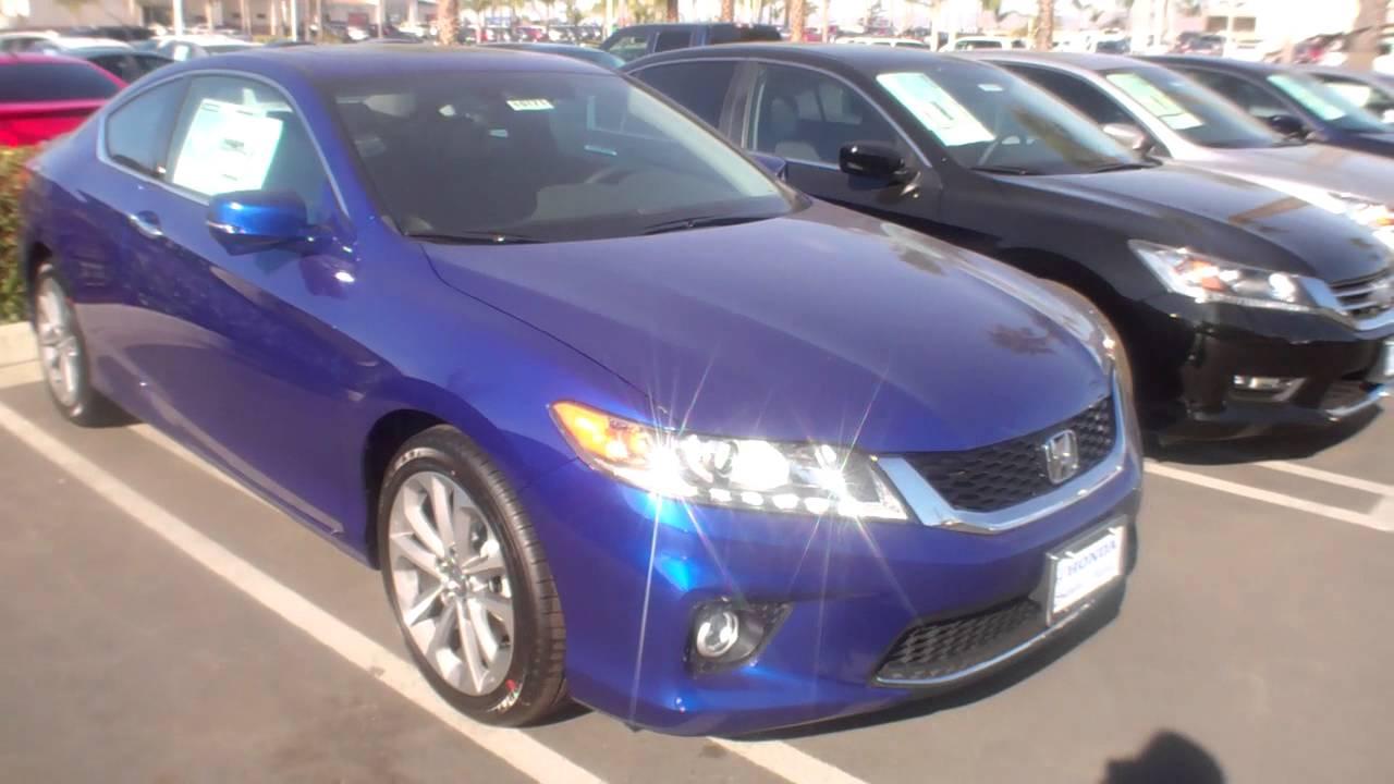 2014 Honda Accord Coupe Still Night Blue Exl V6 Nav Navigation Youtube