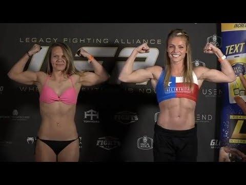 Jessica Sotack vs. Hailey Cowan - Weigh-in Face-Off - (LFA 55: Johns vs. Yanez) - /r/WMMA