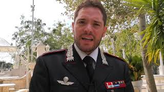 Il Capitano Savastano saluta la comunità andriese