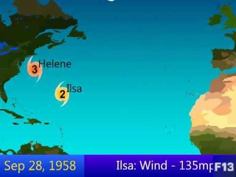 1958 Atlantic Hurricane Season Animation