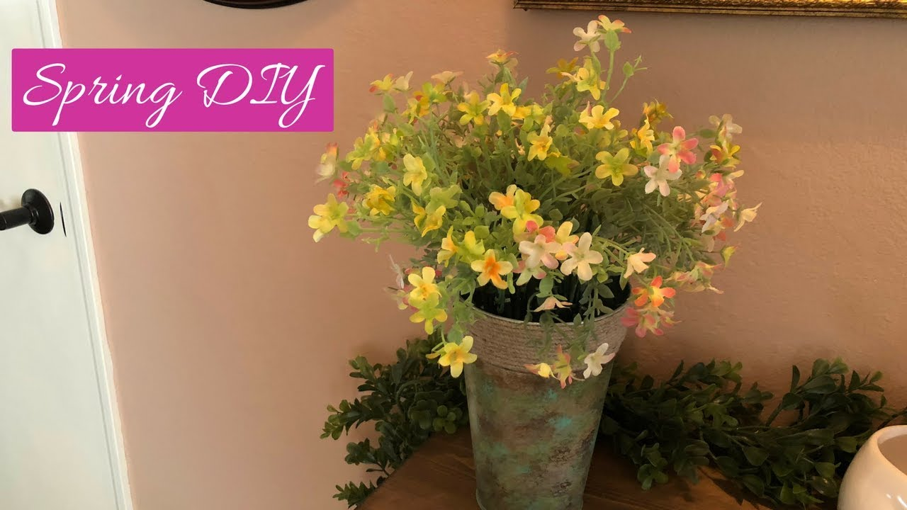 Dollar Tree | Walmart Spring Container And Flower Arrangement - YouTube