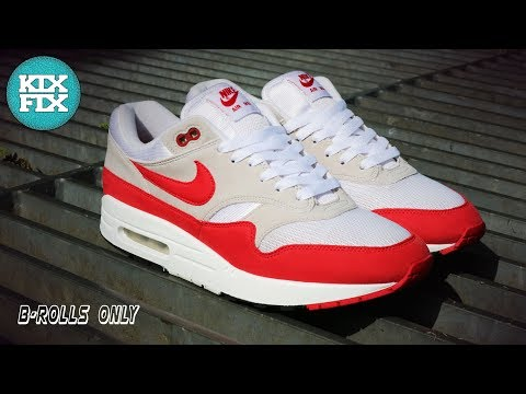 Nike Air Max 1 Anniversary OG Red Restoration B-Rolls Only KixFix