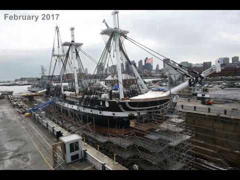 USS CONSTITUTION Restoration Timelapse 2017