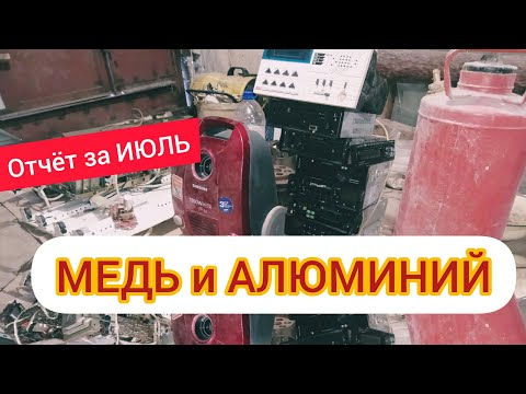 Отчёт за ИЮЛЬ МЕДЬ и АЛЮМИНИЙ!