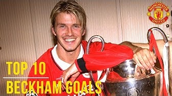 David Beckham's Top 10 Goals! | Manchester United | UEFA President's Award