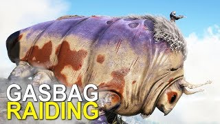 GASBAG RAIDING THE VOLCANO PEAK BASE - ARK:SURVIVAL EVOLVED (Official Small Tribes Pirates) - Ep.2