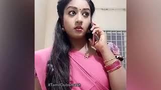 Tamil cute Dubsmash | Tamil WhatsApp status Dubsmash | New serial actress Dubsmash