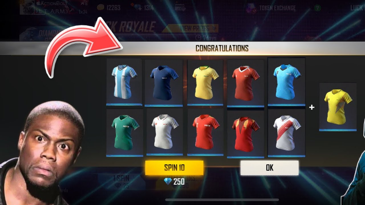 😀Got All Football Jersey || Giveaway in my Subsrcriber Account - Garena Free Fire