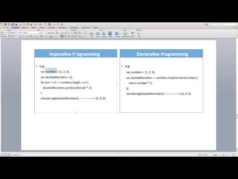 Lecture 17 -  Imperative vs Declarative Programming
