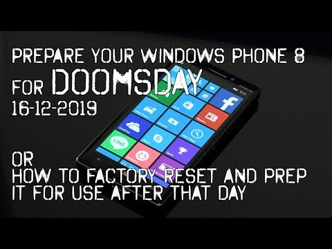 Prepare Your Nokia Lumia Windows Phone 8 Device For Doomsday: The Last Factory Reset.