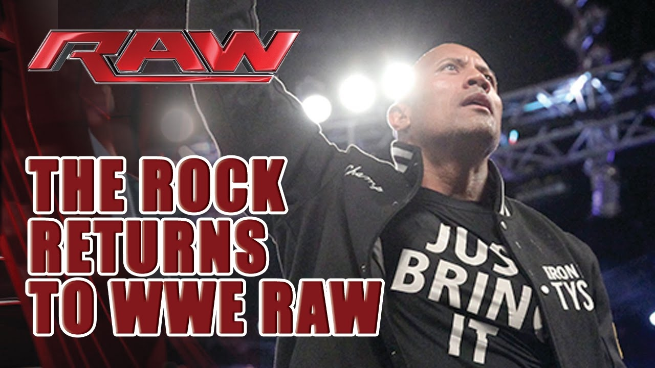 THE ROCK RETURNS TO WWE RAW 2017 - The Rock's Raw ...