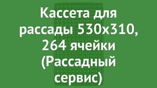 Кассета для рассады 530x310, 264 ячейки (Рассадный сервис) обзор РС0106