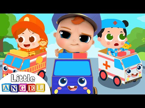 Let's be a Policeman, Fireman and Ambulance Driver | Little Angel Kids Song