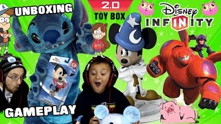 Crystal Mickey Unboxing! Disney Infinity 2.0 Originals Toy Box Gravity Falls Gameplay W/ Dad & Son
