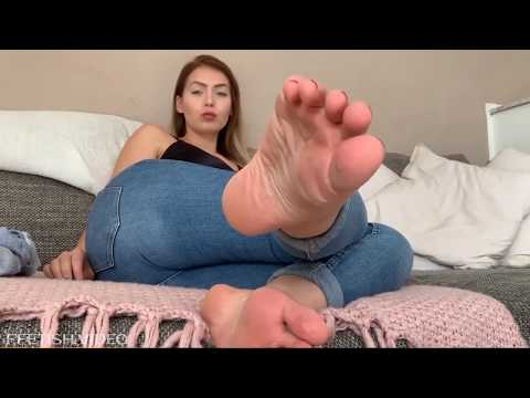 Sexy girl loves smelling her own feet from YouTube · Duration:  3 minutes