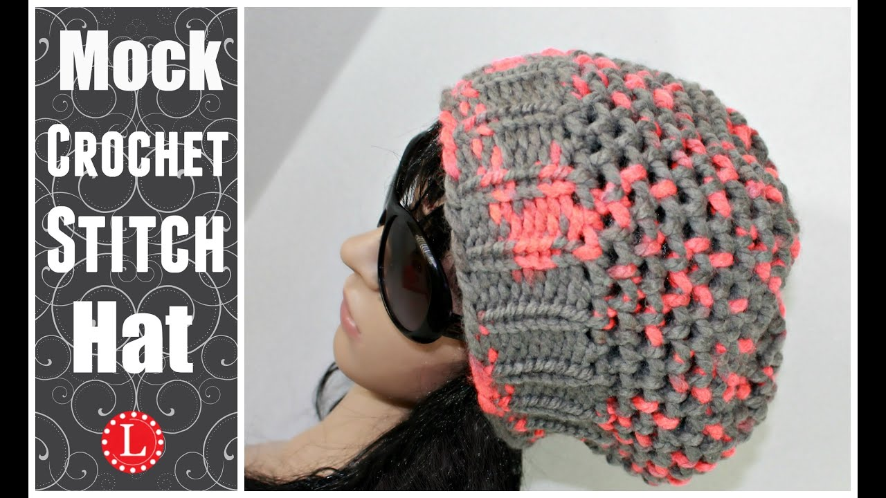 Loom Knit Hats Slouchy Beanie Hat Mock Crochet Stitch Hat Made