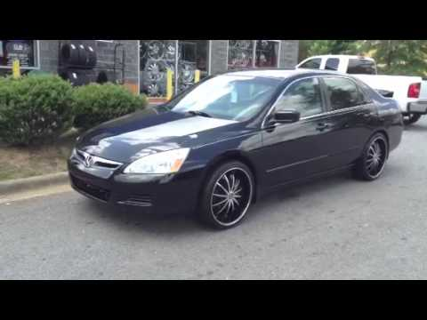 2007 honda accord sitting on elure 20 rims wrapped in. Black Bedroom Furniture Sets. Home Design Ideas
