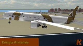 Roblox Flight -:- Kenya Airways Economy -:- Sky to the ground to the sky?