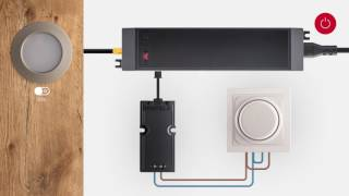 Häfele Loox interface voor 220V-dimmer; installatie en gebruik