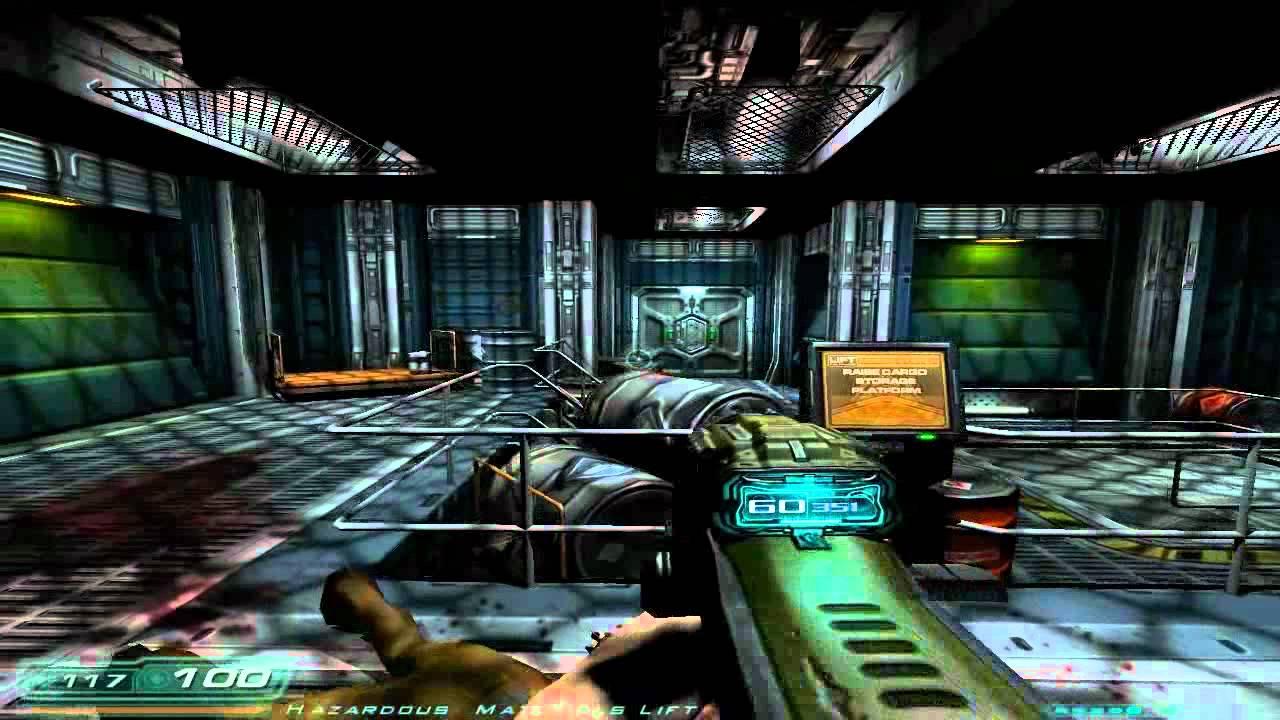 Doom 3 Lets Play Part 4 That Chaingun Youtube