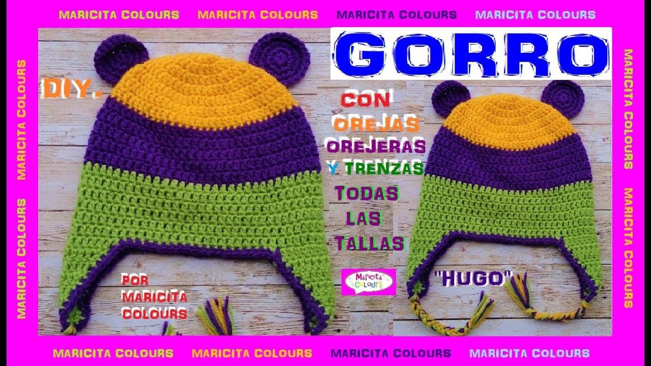 Cómo Tejer Gorro con Orejas a Crochet \