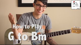 guitar tips tricks 9 g open position to bm barre chord transition