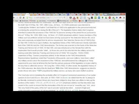 Class 6 - Intro to Federal Legislative History