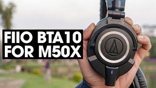 FiiO BTA10 - Biến Audio Technica M50x thành tai nghe bluetooth