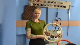 Обучение перетяжке салона автомобиля, уроки перетяжки в школе тюнинга Salontuninga,