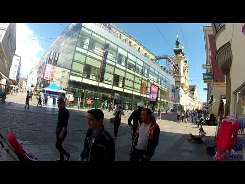 Linz, Austria. City center and land strasse. Fatih Aksoy