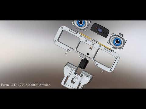 Vue éclatée des yeux du robot Maya