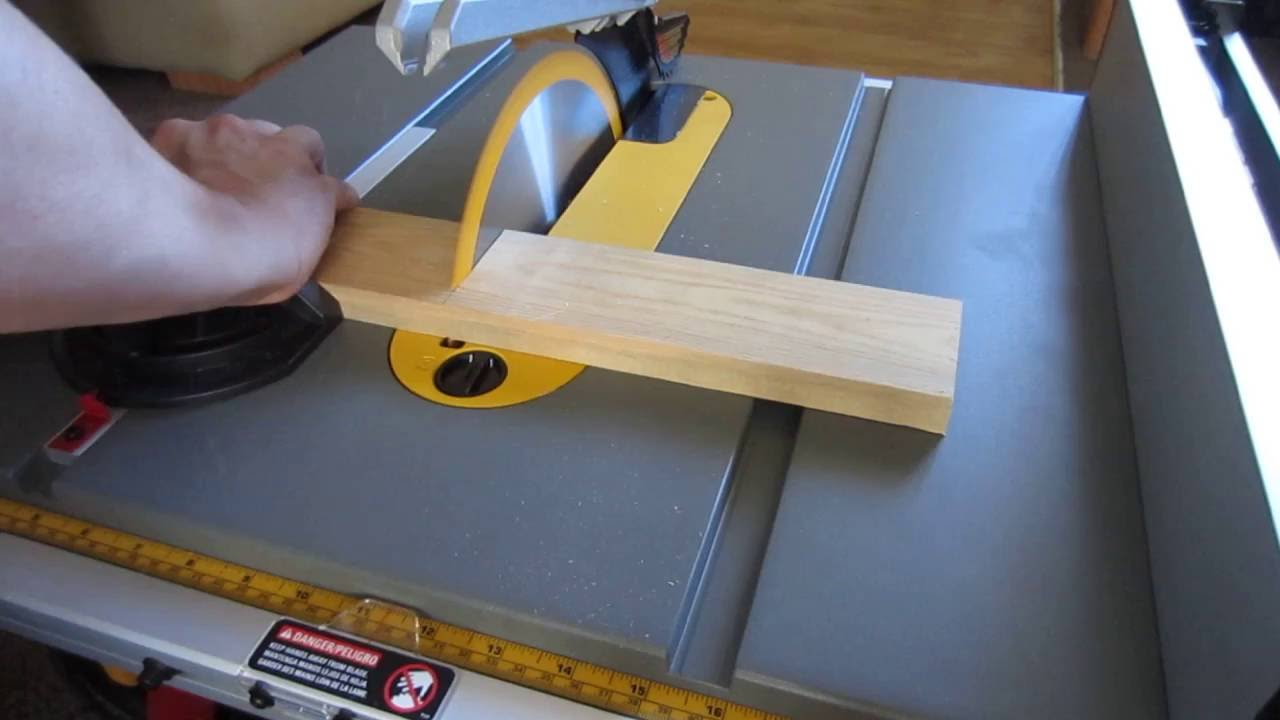 How Not To Do Table Saw Cross Cut Youtube