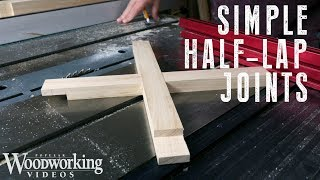 How to Make Half-Lap Joints on a Table Saw | Tricks of the Trade