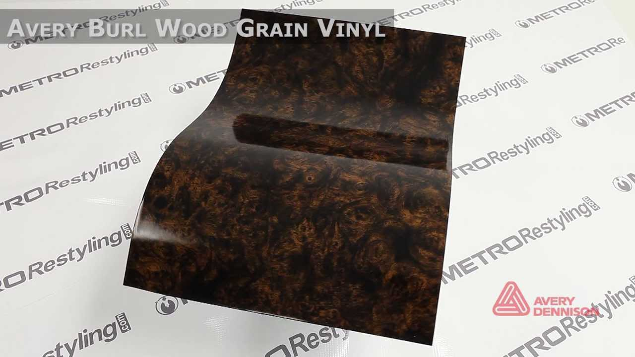 Avery Burl Wood Grain Vinyl Youtube