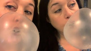 Blowing Bubblegum Bubbles Again With Ice Breakers Gum