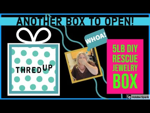 THREDUP 5 Pound DIY JEWELRY RESCUE BOX Silver Unboxing Unjarring Unpacking
