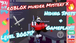 [MMX] Hiding Spots, Level 200?!?, and Gameplay!!! | Roblox Murder Mystery X