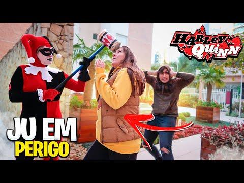 A IRMÃ MALVADA DA ARLEQUINA HARLEY QUINN BATEU NA JU!!! JU EM PERIGO!