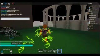 ROBLOX: fairy tail fiery hearts lightning dragon slayer review :D