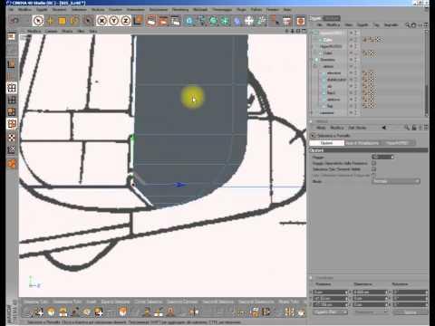 Cinema 4D tutorial - B25 - Part 08 Vertical stabilizer