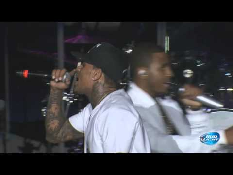 Chris Brown & Trey Songz performing at Cali Christmas Festival | Los Angeles