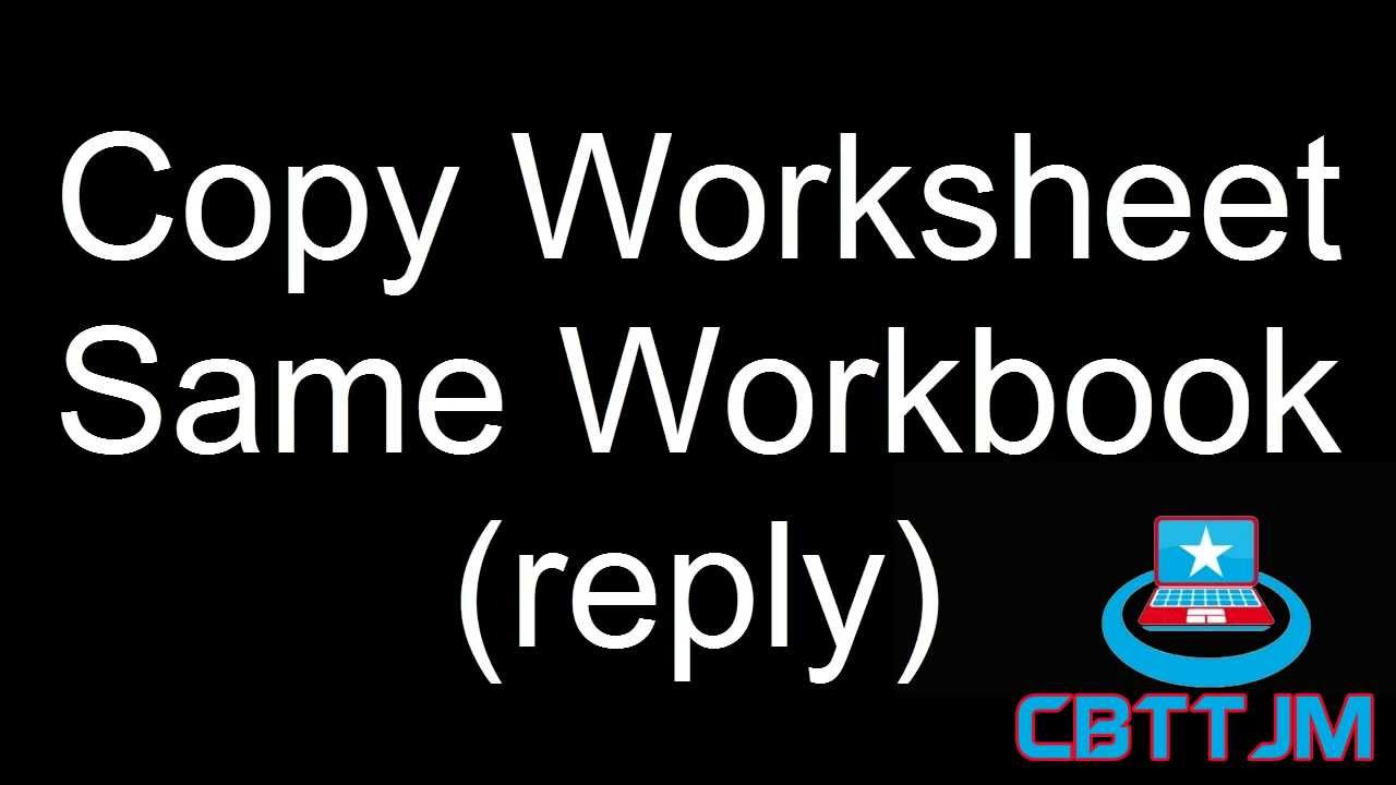 VBA Copy Excel Sheet Same Workbook reply YouTube – Vba Copy Worksheet
