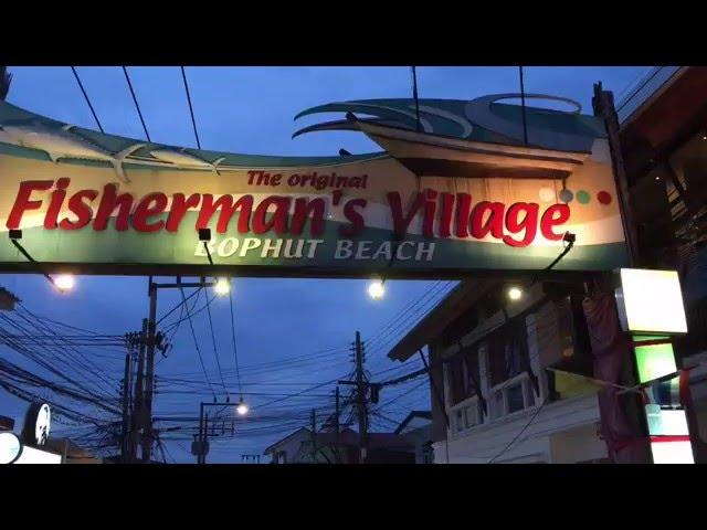 Koh Samui Scooter Tour by Night Fishermans Village Bophut Thailand