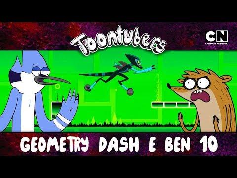 O MELHOR TREINAMENTO PRO GEOMETRY DASH É O BEN 10 | ToonTubers | Cartoon Network